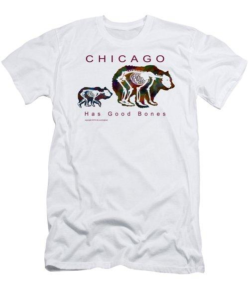 Chicago Has Good Bones Watercolor Men's T-Shirt (Athletic Fit)