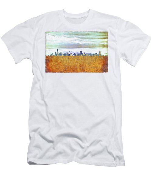 Chicago Skyline Men's T-Shirt (Slim Fit) by Di Designs