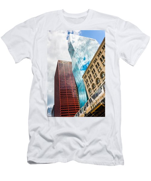 Chicago's South Wabash Avenue  Men's T-Shirt (Slim Fit) by Semmick Photo