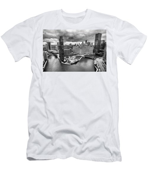 Chicago's Wolf Point From The 27th Floor Men's T-Shirt (Athletic Fit)