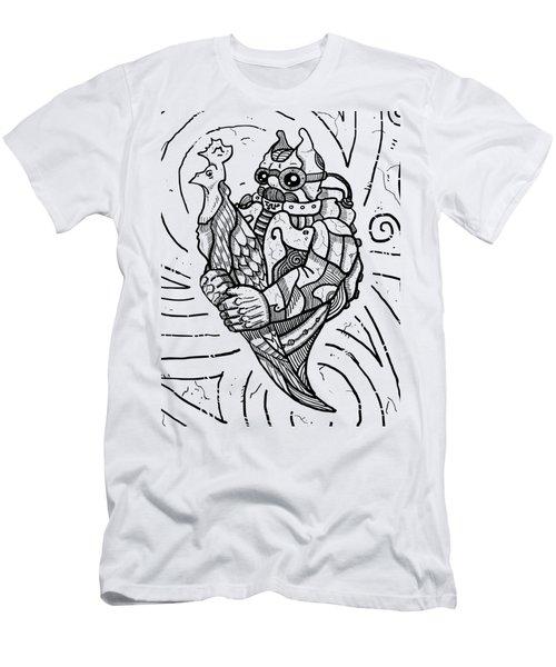 Chicken Master Men's T-Shirt (Slim Fit) by Sotuland Art