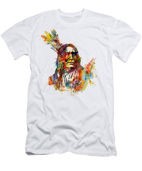 Chief Mojo Watercolor Men's T-Shirt (Slim Fit)