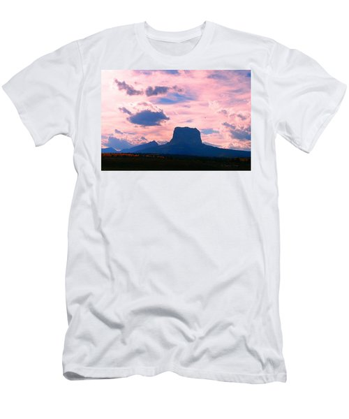 Chief Mountain, Pastel Men's T-Shirt (Athletic Fit)