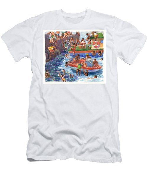 Children Playing At Avarua Wharf  Men's T-Shirt (Athletic Fit)