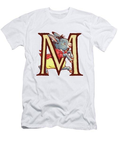 Children's Letter M Men's T-Shirt (Slim Fit) by Andrea Richardson