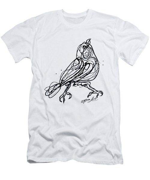 Chin Up Little Buttercup  Abstract Pollock Style On Paper Men's T-Shirt (Athletic Fit)