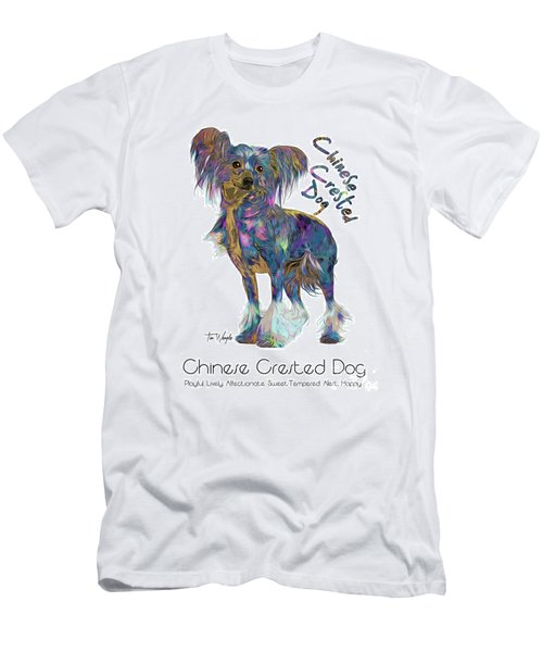 Chinese Crested Dog Pop Art Men's T-Shirt (Athletic Fit)
