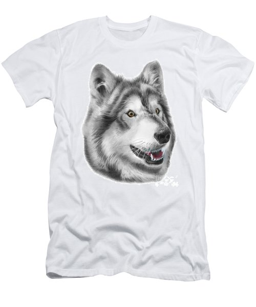 Men's T-Shirt (Slim Fit) featuring the drawing Chinook by Peter Piatt