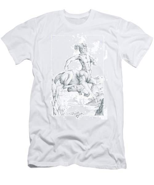 Men's T-Shirt (Slim Fit) featuring the drawing Chiron The Centaur by Curtiss Shaffer