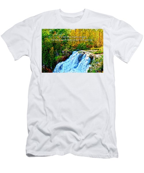 Men's T-Shirt (Slim Fit) featuring the photograph Chittenango Falls, Ny Mother Teresa  by Diane E Berry