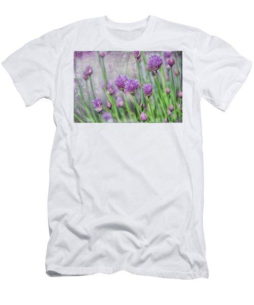 Chives In Texture Men's T-Shirt (Slim Fit) by Debra Baldwin