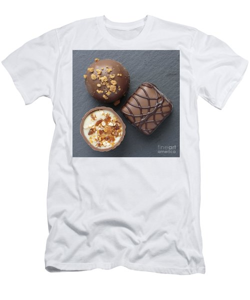 Chocolate Bonbons Square Men's T-Shirt (Athletic Fit)