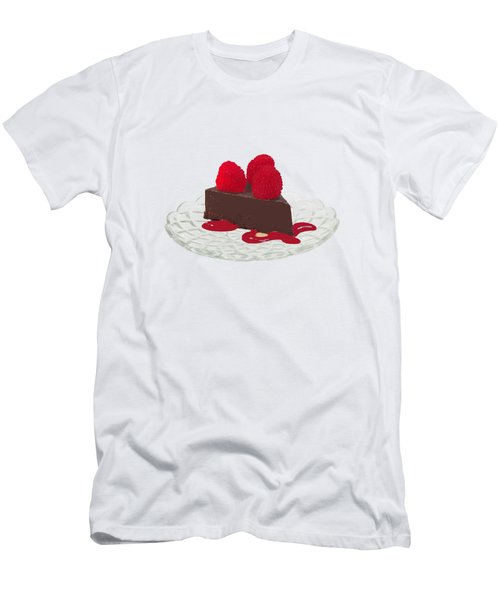 Chocolate Cake Men's T-Shirt (Slim Fit) by Priscilla Wolfe