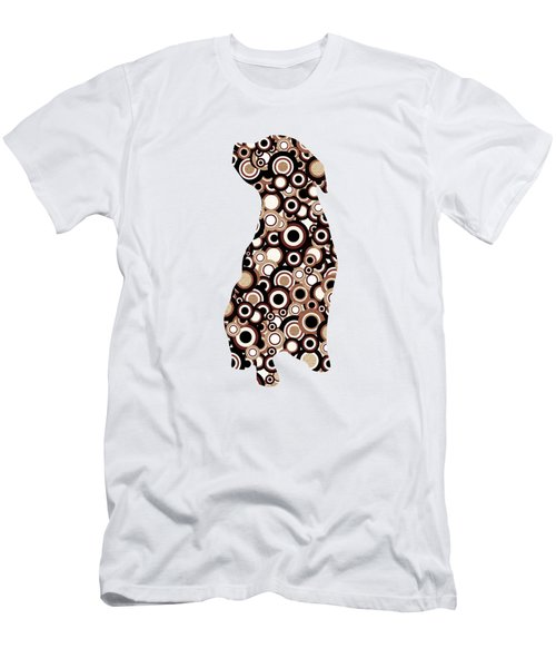 Chocolate Lab - Animal Art Men's T-Shirt (Athletic Fit)