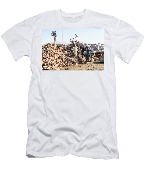 Chopping Wood Men's T-Shirt (Athletic Fit)
