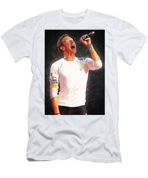 Chris Martin - Coldplay Men's T-Shirt (Slim Fit) by Semih Yurdabak