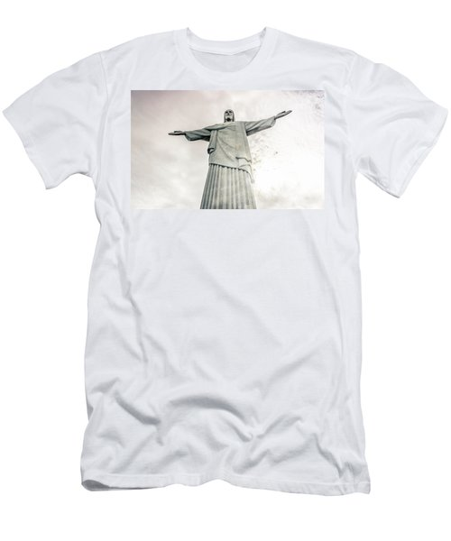 Men's T-Shirt (Slim Fit) featuring the photograph Christ The Redeemer by Andrew Matwijec