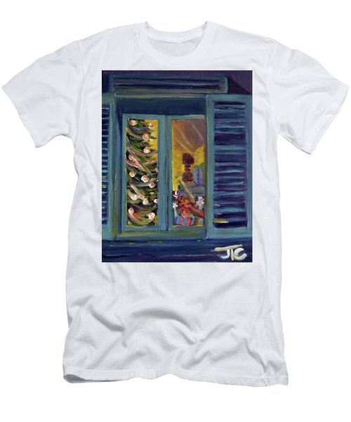 Christmas 2016 Men's T-Shirt (Slim Fit) by Julie Todd-Cundiff