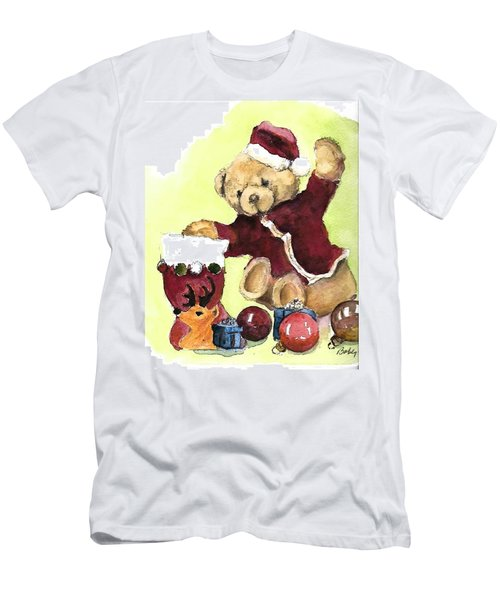Christmas Bear Men's T-Shirt (Athletic Fit)