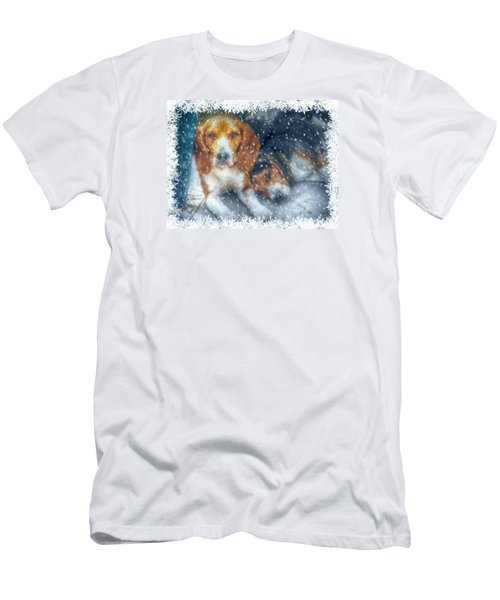 Men's T-Shirt (Slim Fit) featuring the photograph Christmas Brothers by Amanda Eberly-Kudamik