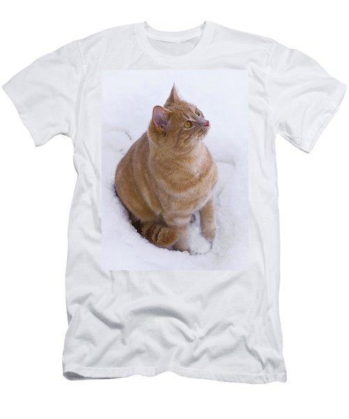 Christmas Cat Men's T-Shirt (Slim Fit) by Jacqi Elmslie