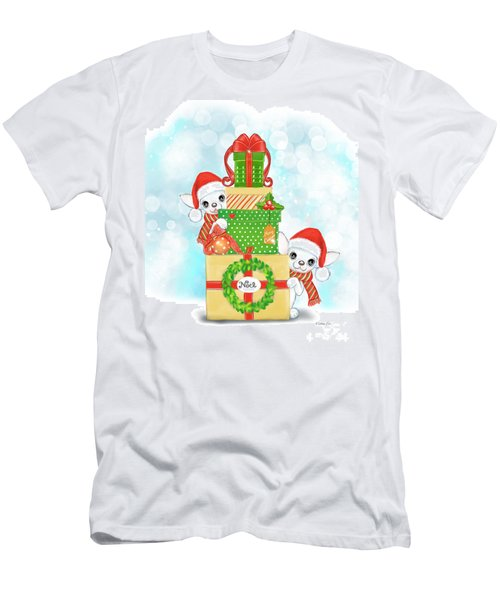 Men's T-Shirt (Athletic Fit) featuring the painting Christmas Chi Elves by Catia Lee