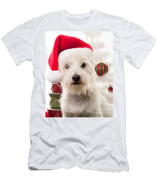 Christmas Elf Dog Men's T-Shirt (Athletic Fit)