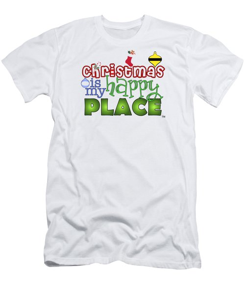 Christmas Is My Happy Place Men's T-Shirt (Athletic Fit)