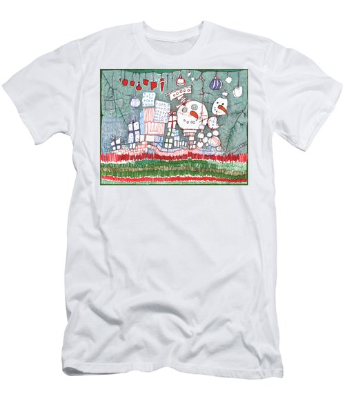 Christmas On The Edge Men's T-Shirt (Athletic Fit)