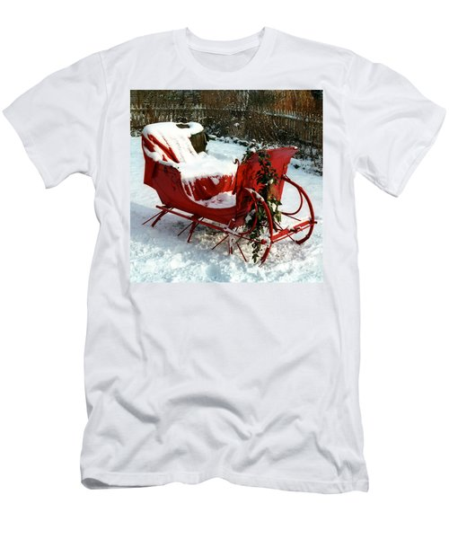 Christmas Sleigh Men's T-Shirt (Athletic Fit)
