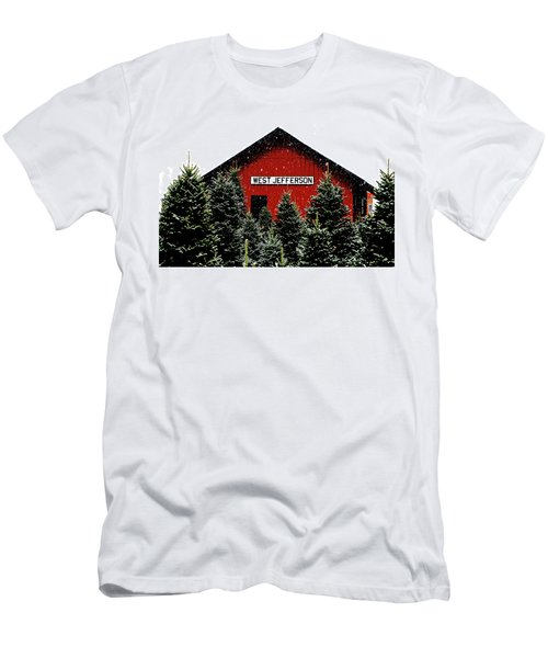Christmas Town Men's T-Shirt (Slim Fit) by Dale R Carlson