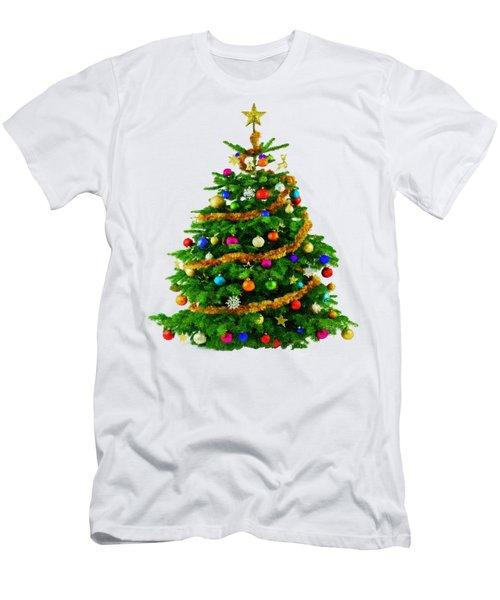 Christmas Tree 1417 Men's T-Shirt (Slim Fit) by Rafael Salazar