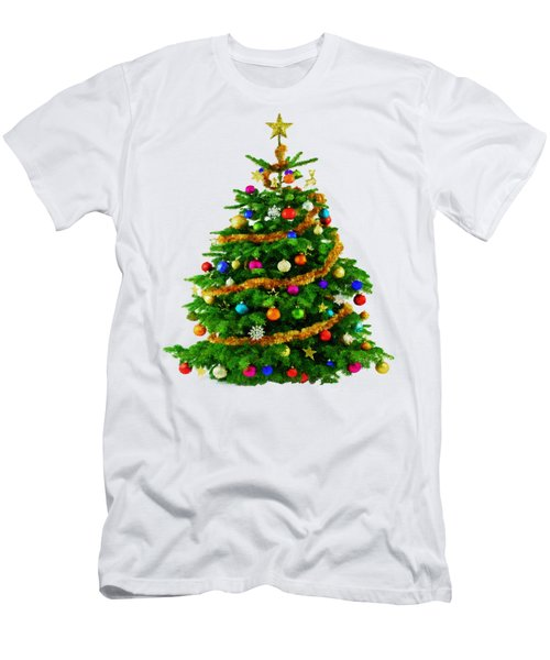 Christmas Tree 1417 Men's T-Shirt (Athletic Fit)