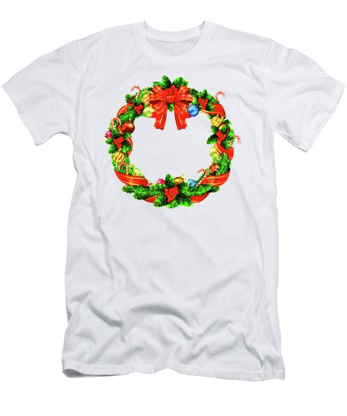 Christmas Wreath Men's T-Shirt (Athletic Fit)