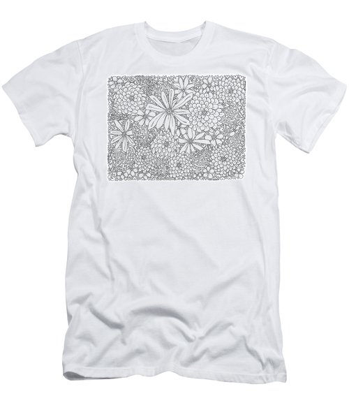 Chrysanthemums And Daisies Living In Harmony Horizontal Men's T-Shirt (Athletic Fit)