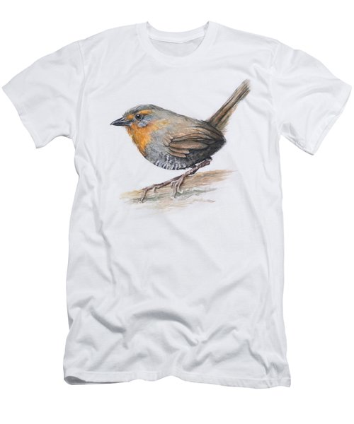 Chucao Tapaculo Watercolor Men's T-Shirt (Athletic Fit)