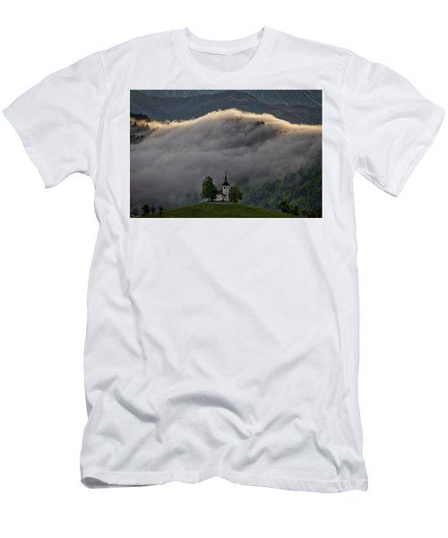 Men's T-Shirt (Athletic Fit) featuring the photograph Church Of St. Thomas - Slovenia by Stuart Litoff