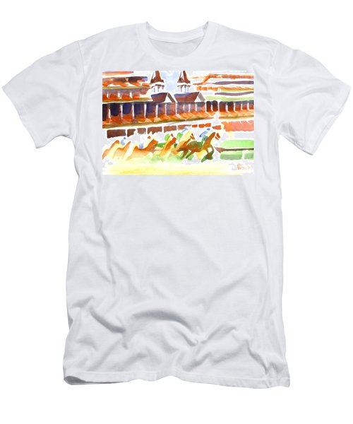 Churchill Downs Watercolor Men's T-Shirt (Athletic Fit)