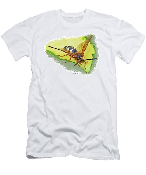 Men's T-Shirt (Athletic Fit) featuring the digital art Cicada-killer Wasp by Larry Linton