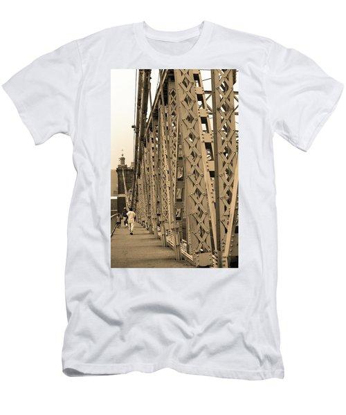 Cincinnati - Roebling Bridge 3 Sepia Men's T-Shirt (Slim Fit) by Frank Romeo