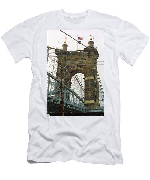Cincinnati - Roebling Bridge 4 Men's T-Shirt (Slim Fit) by Frank Romeo