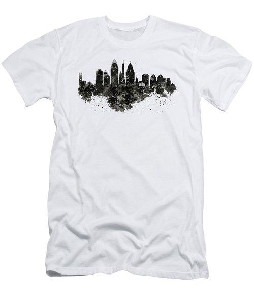 Cincinnati Skyline Black And White Men's T-Shirt (Athletic Fit)