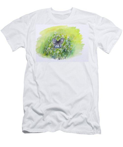 Cindy's Butterfly Men's T-Shirt (Slim Fit) by Clyde J Kell
