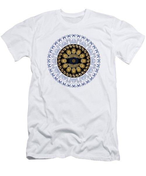 Men's T-Shirt (Slim Fit) featuring the digital art Circularium No 2638 by Alan Bennington