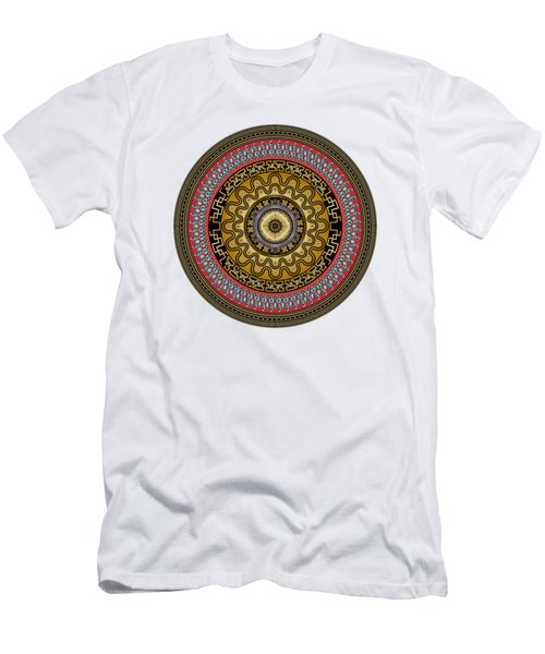 Men's T-Shirt (Slim Fit) featuring the digital art Circularium No. 2644 by Alan Bennington