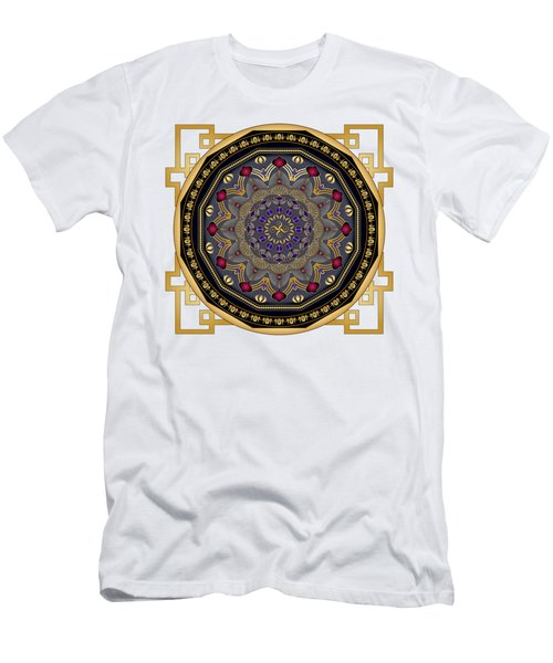 Men's T-Shirt (Slim Fit) featuring the digital art Circularium No 2652 by Alan Bennington