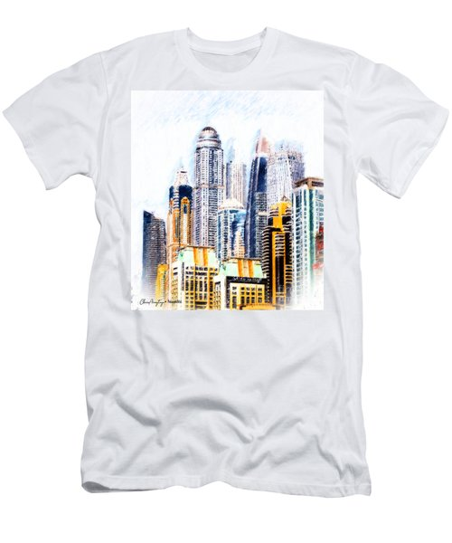 City Abstract Men's T-Shirt (Athletic Fit)