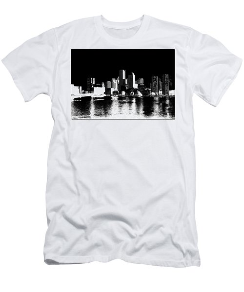 City Of Boston Skyline   Men's T-Shirt (Athletic Fit)