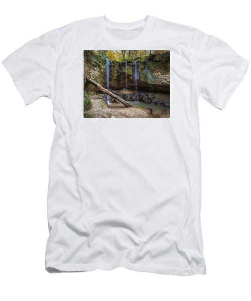 Men's T-Shirt (Slim Fit) featuring the photograph Clark Creek Waterfall No. 1 by Andy Crawford