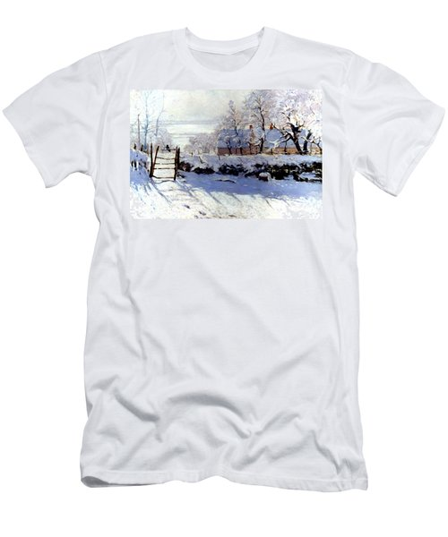 Claude Monet The Magpie - To License For Professional Use Visit Granger.com Men's T-Shirt (Athletic Fit)